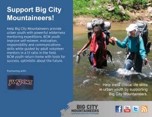 Big City Mountaineers - Point of Sale Sign