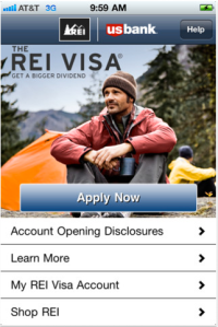 REI Visa iPhone App