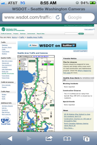 Seattle Area Traffic Map